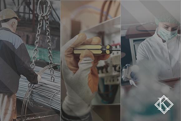 """A imagem mostra três fotografias de diferentes ambientes de trabalho. Ilustra a publicação """"PPP e LTCAT são a chave para obter a Aposentadoria Especial"""", da Koetz Advocacia."""
