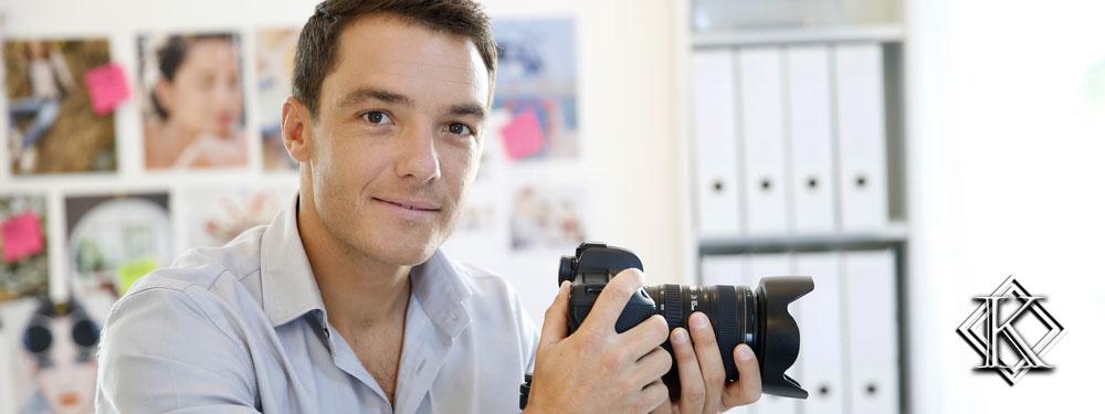 Fotógrafo sorrindo