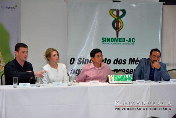 Imagem para o post aposentadoria especial em evento do Sindmed