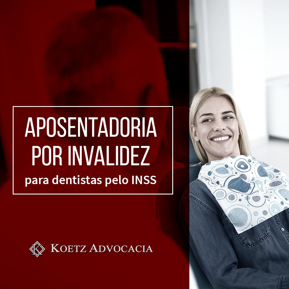A imagem representa uma mulher sendo atendida por um dentista em um consultório. Veja aqui como funciona a aposentadoria por invalidez para o dentista.