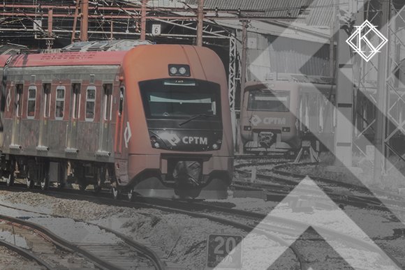 A imagem mostra um trem, e ilustra a publicação
