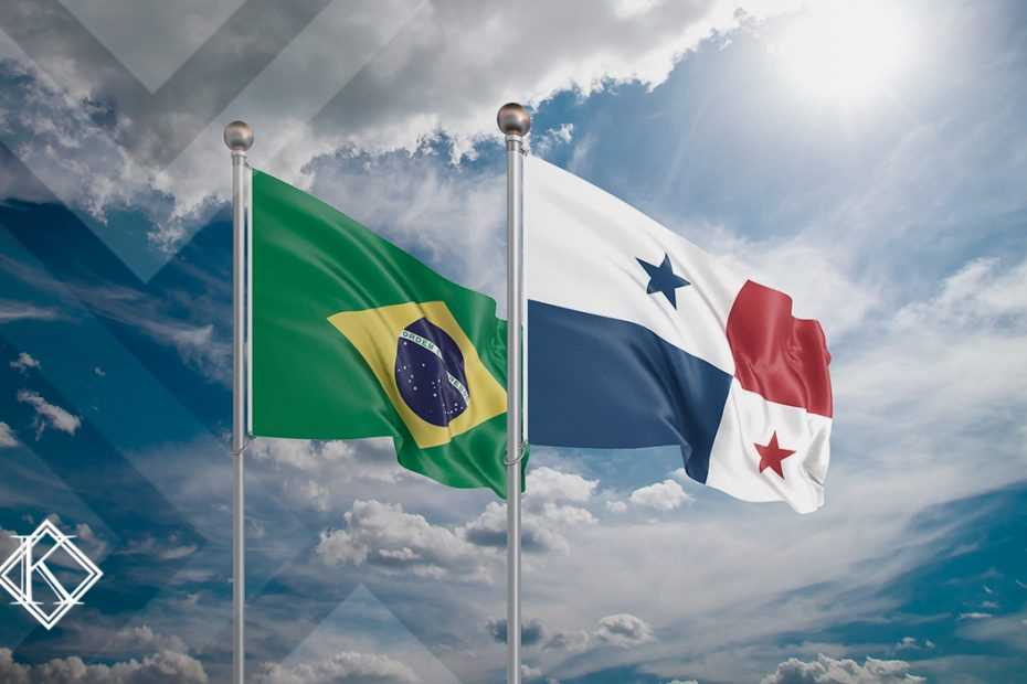 """A imagem mostra as bandeiras do Brasil e do Panamá, e ilustra a publicação """"Acordo de previdência Panamá e Brasil, qual é a situação atual?"""", da Koetz Advocacia."""