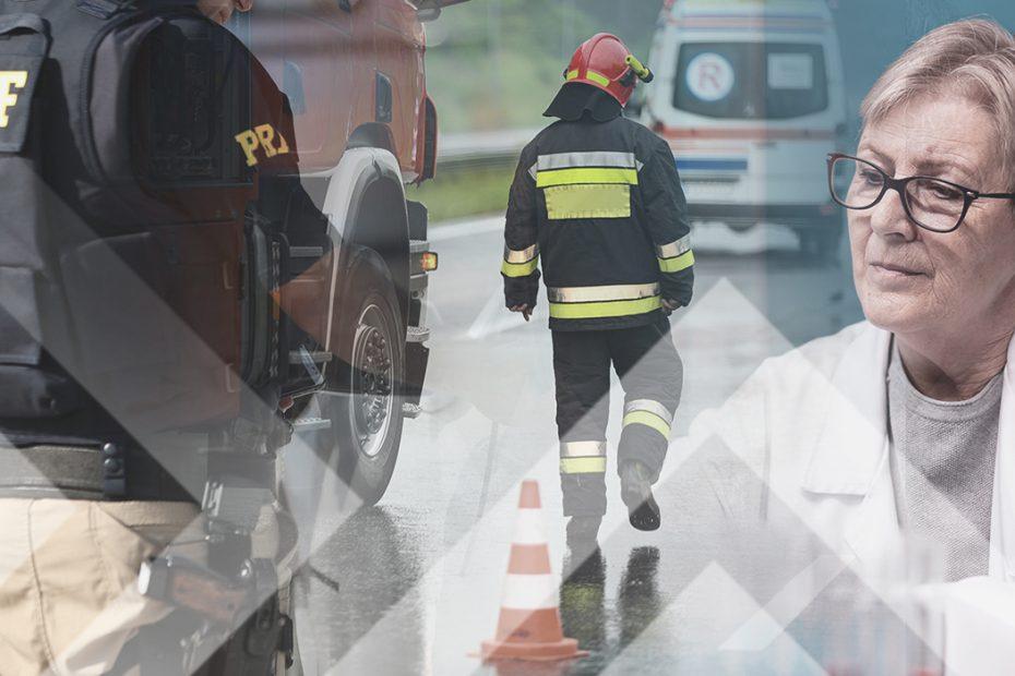 """A imagem mostra três profissionais diferentes expostos a condições de perigo ou insalubridade, e ilustra a publicação """"Periculosidade e insalubridade para aposentadoria mais cedo"""", da Koetz Advocacia."""