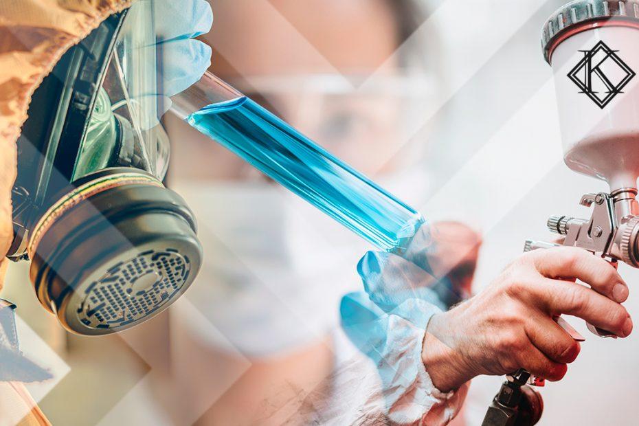 """A imagem mostra diferentes situações de exposição a agentes químicos, ilustrando a publicação """"Agentes Químicos na Aposentadoria Especial: quais permitem o direito?"""", da Koetz Advocacia."""