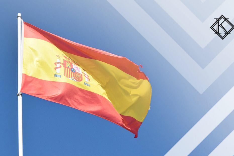 """A imagem mostra a bandeira da Espanha e ilustra a publicação """"Aposentado na Espanha e imposto na aposentadoria brasileira indevido"""" , da Koetz Advocacia."""